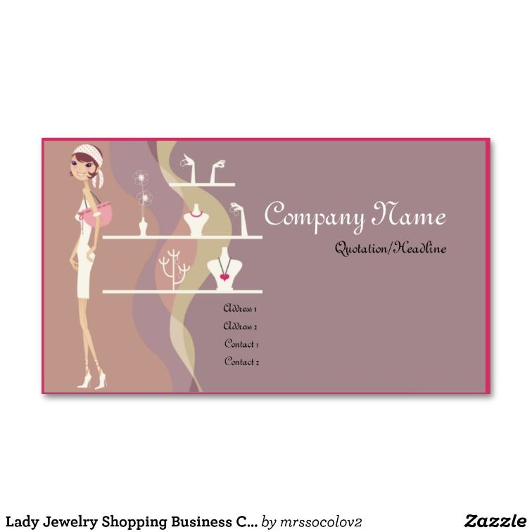 Lady Jewelry Shopping Business Cards | Business Tips & Inspirational ...