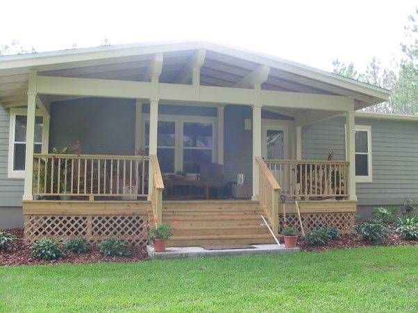 45 great manufactured home porch designs porch designs for Cost to build a covered deck