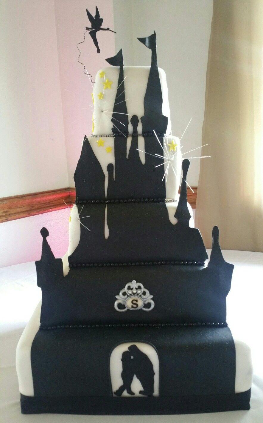 Wedding Cake Disney Castle Mickey Mouse Firework Imgurl