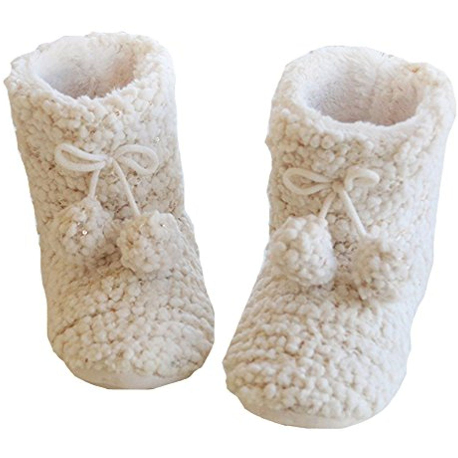 Women/'s Ladies Coolers Knitted Pom Pom Boot Slippers Fleeced Lined
