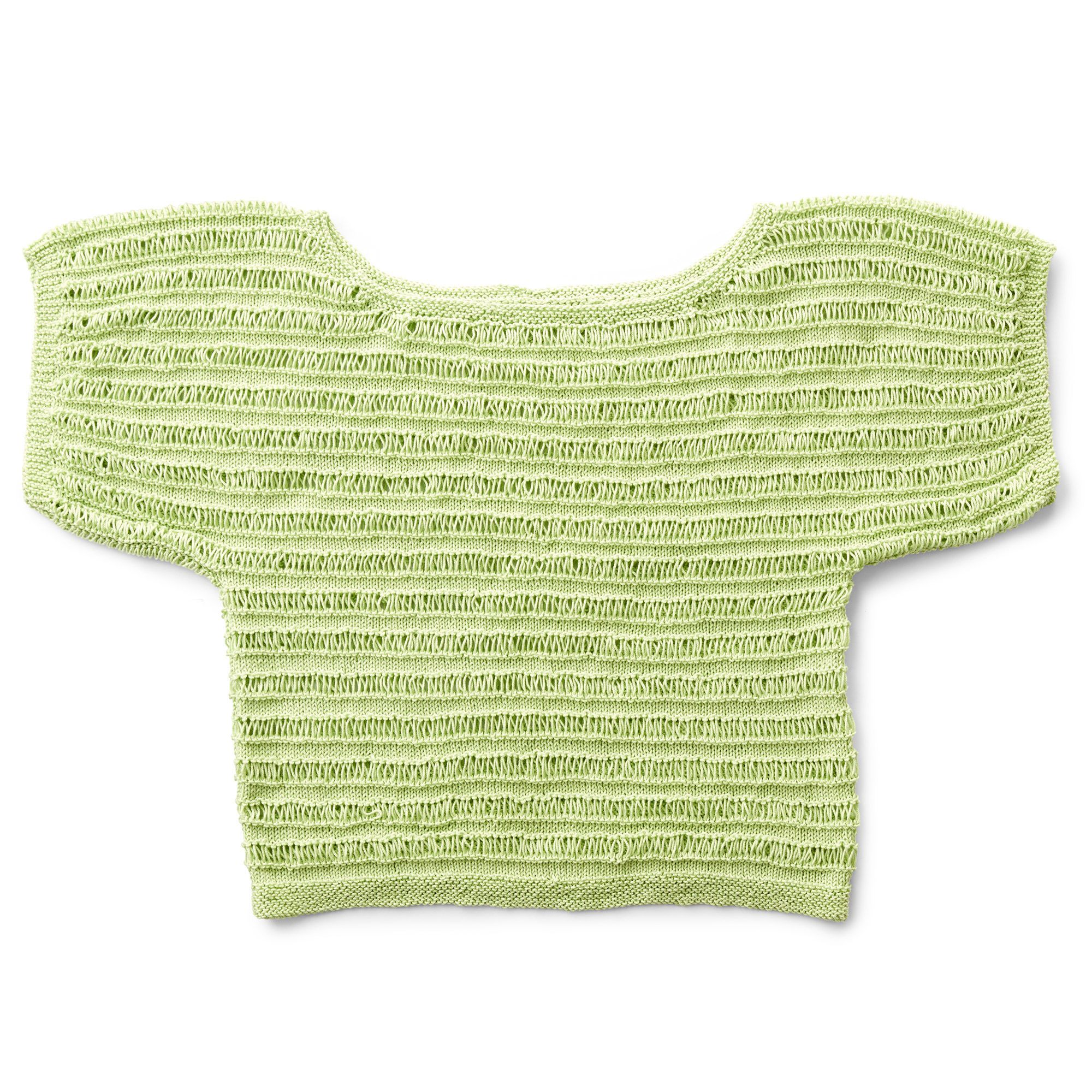 Knit Pattern for Patons Drop Stitch Top #springstyle # ...