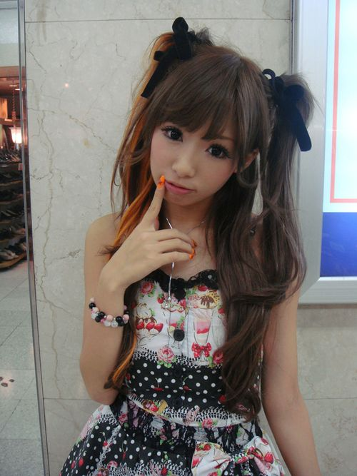 pigtail Asian girl