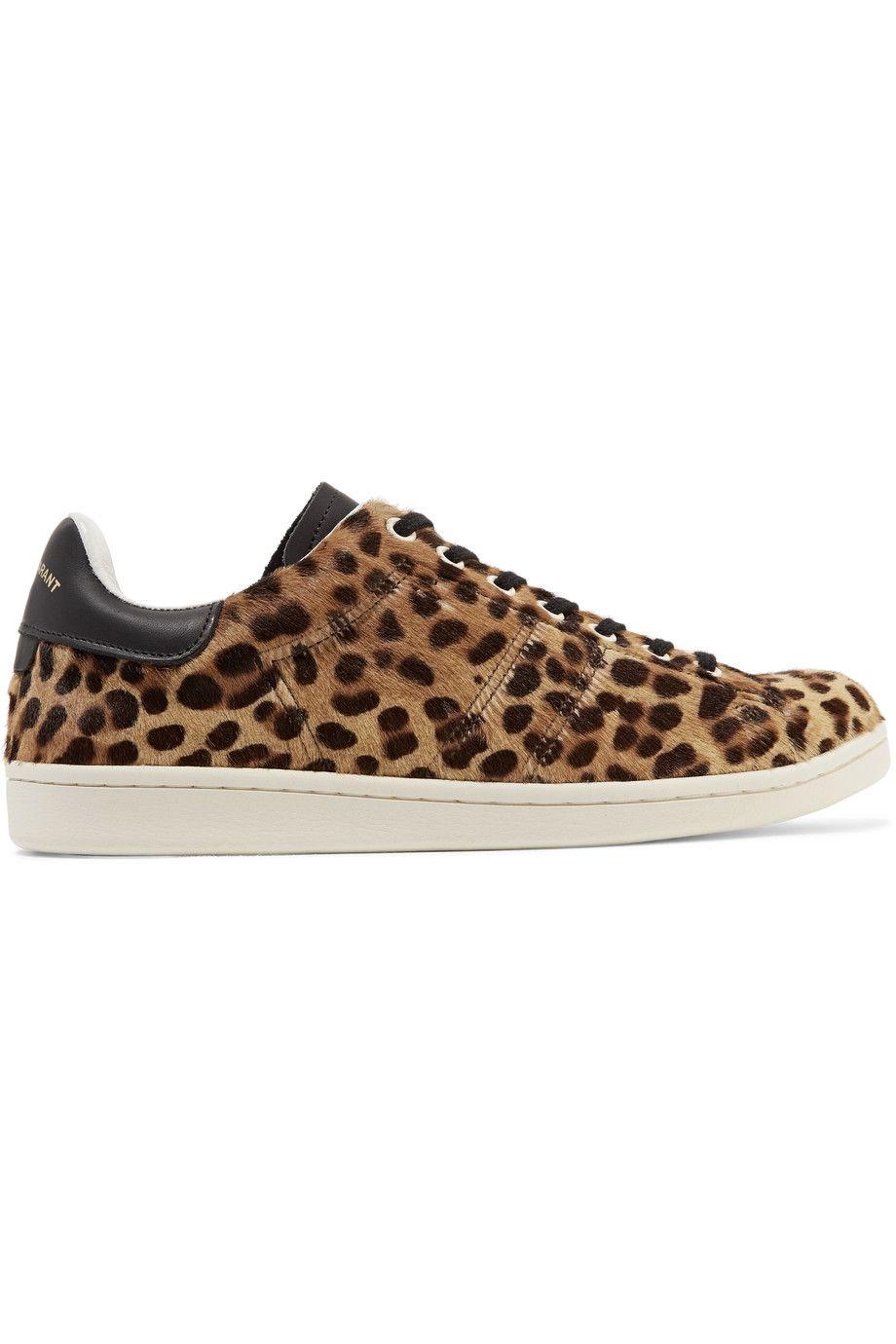ETOILE ISABEL MARANT Bart Leopard-Print Calf Hair Sneakers.  #etoileisabelmarant #shoes #