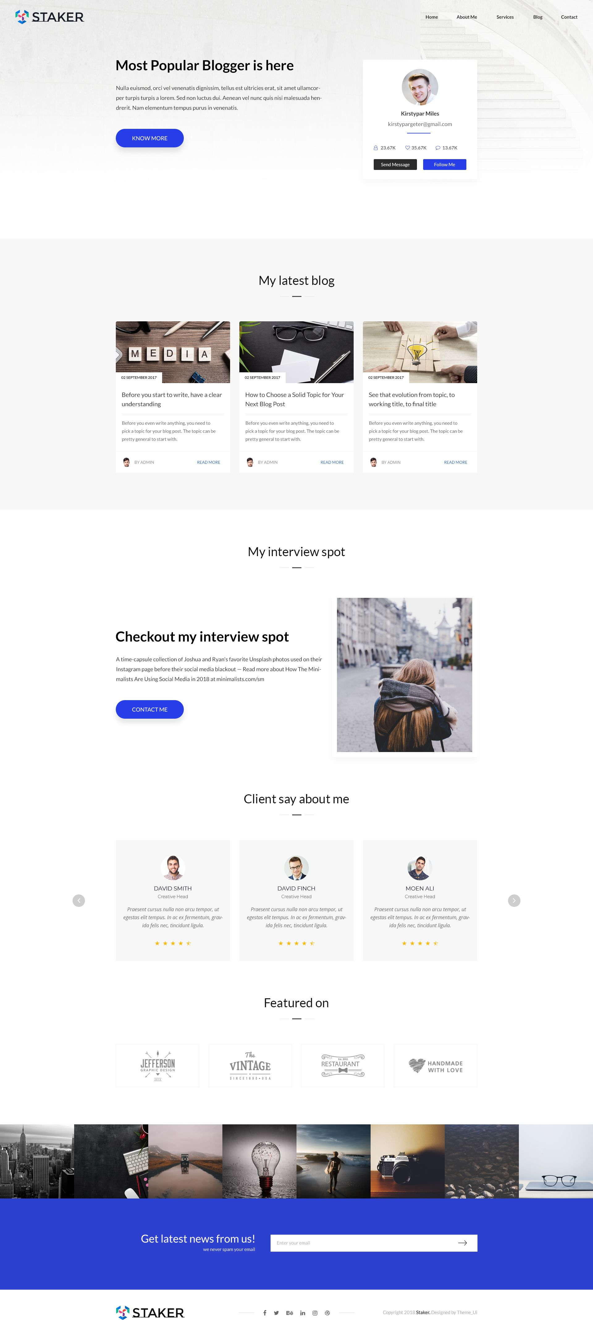 Staker Creative Agency Landing Page Multipurpose Psd Template Landing Page Templates