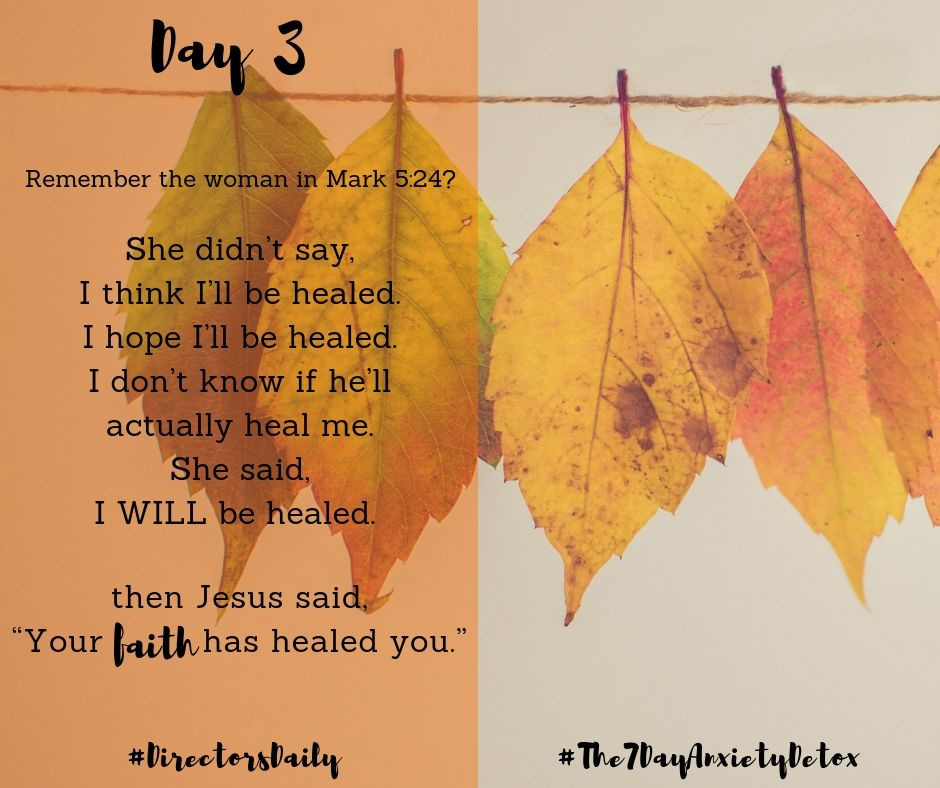 DirectorsDaily The7DayAnxietyDetox 2 Timothy 17. For
