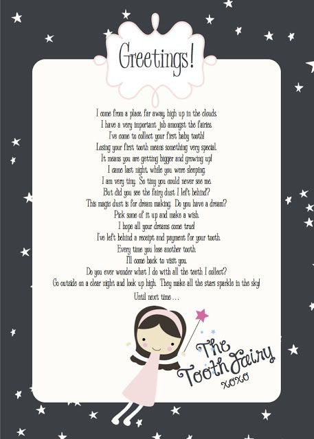Free Printables Tooth Fairy Letter First Tooth Tooth Fairy