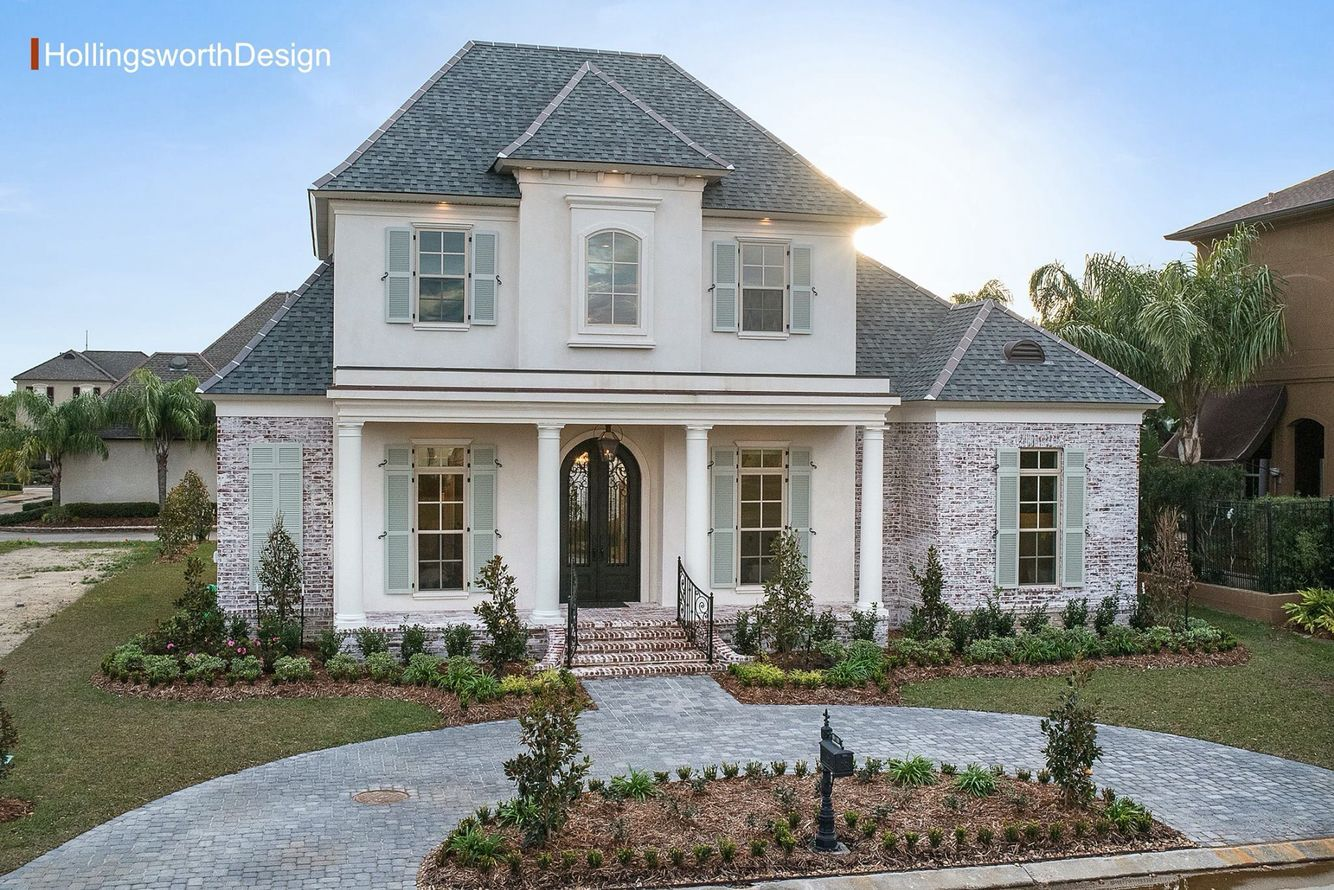 Light Wash Brick Cream French House Plans French Country House Plans French Country House