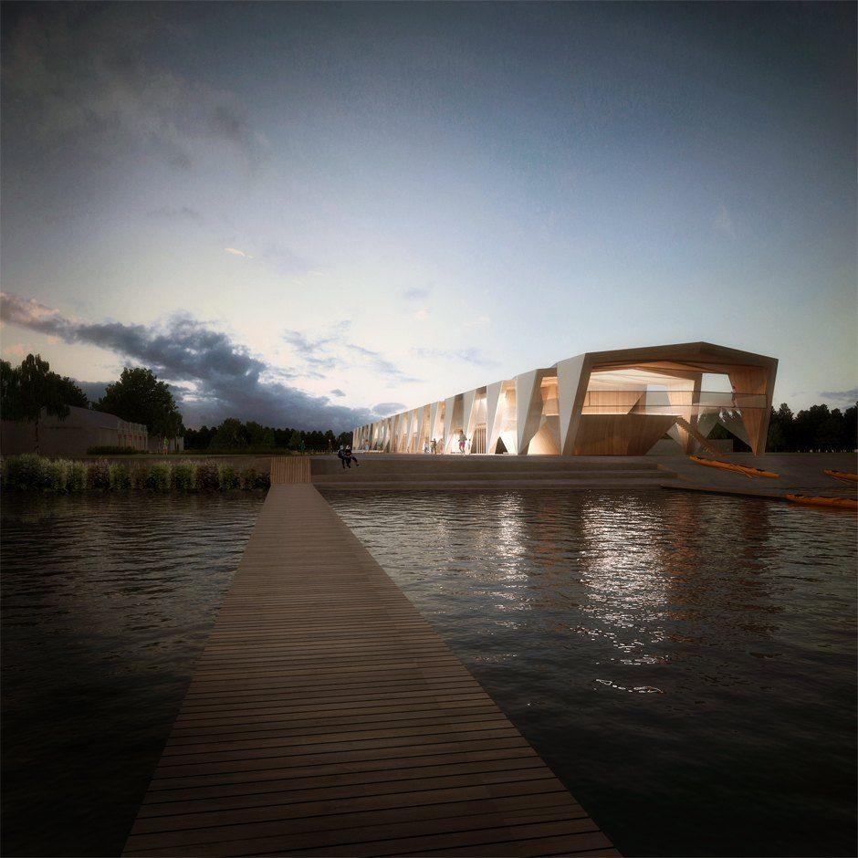 Centre Nautique Tank Architectes Architecte Base Nautique