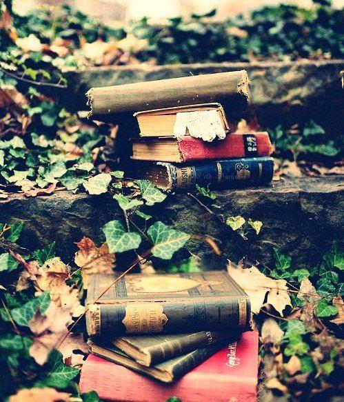 книги на ступенях