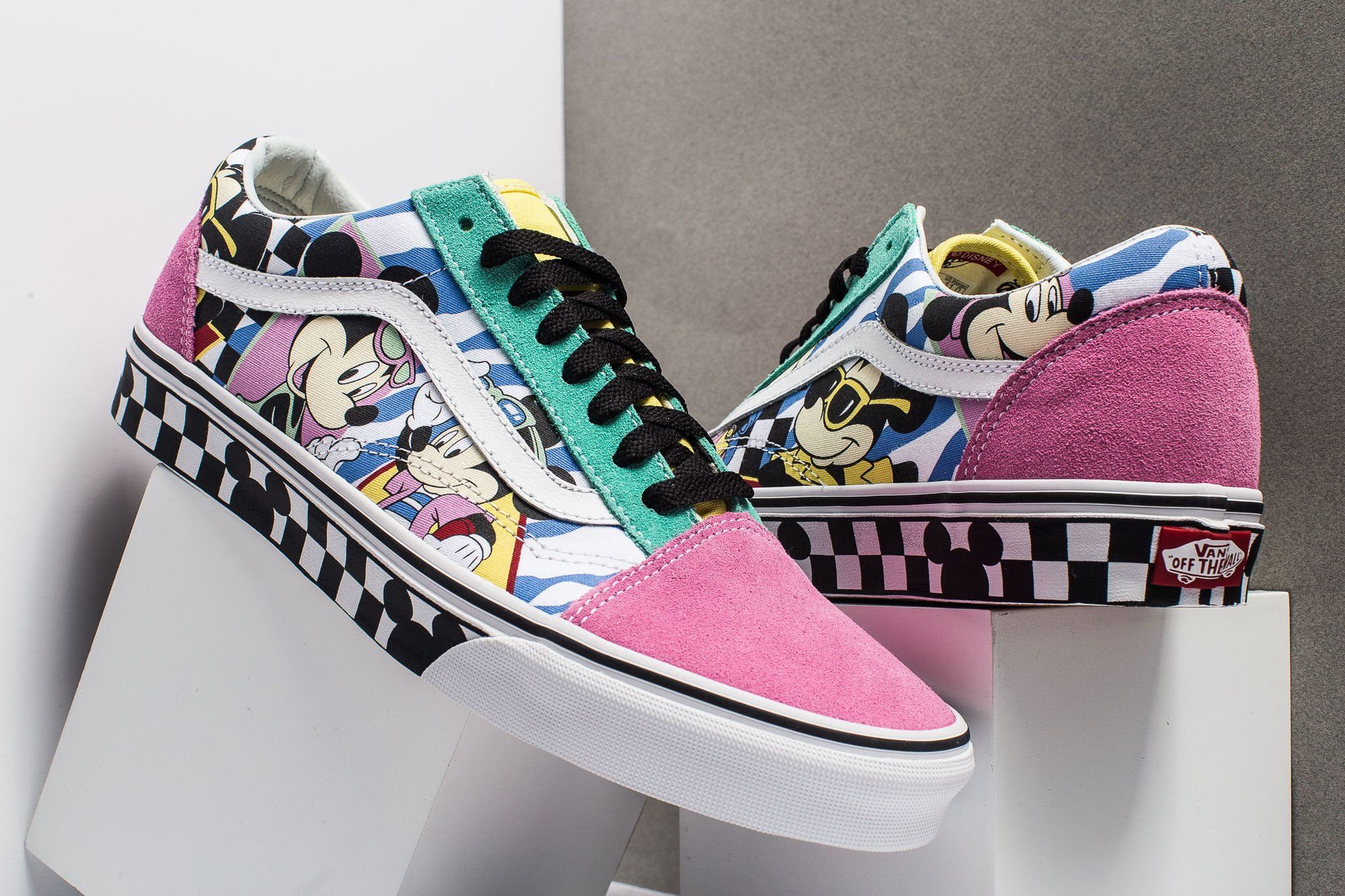 eeb6039cb5cea8 Disney x VANS UA OLD SKOOL 80's Mickey Mouse 90th #vans #disney #vansshoes  #vansauthentic #womens #pink #tiffany #blue #oldskool #girls #lady #fanshion