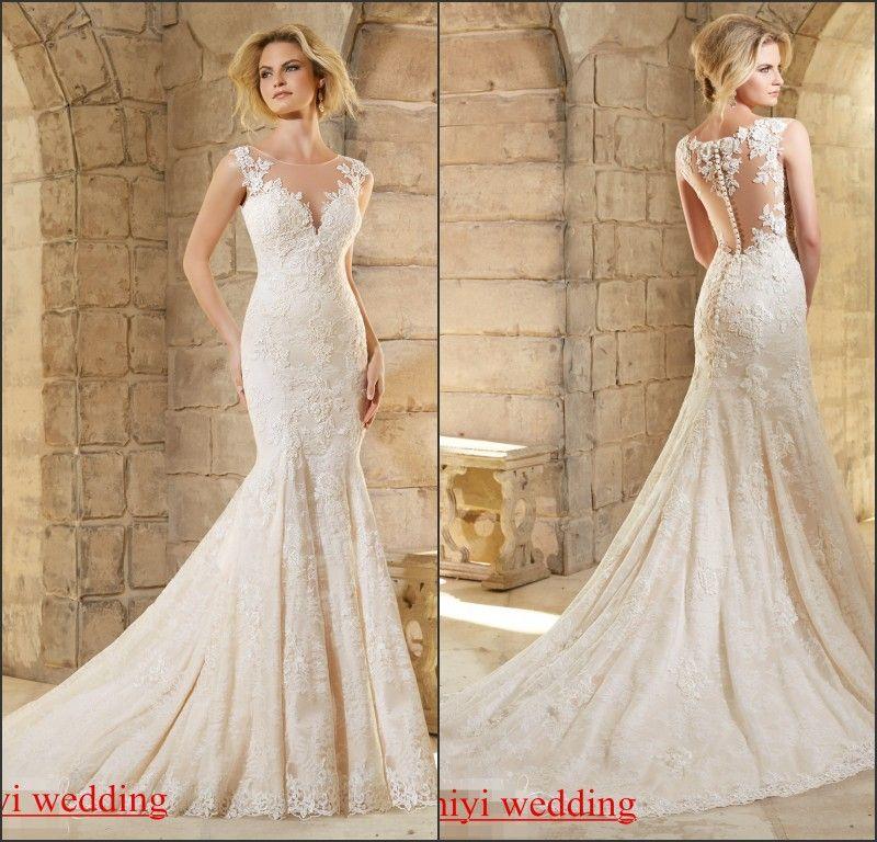 Find More Wedding Dresses Information about vestido noiva Illusion ...