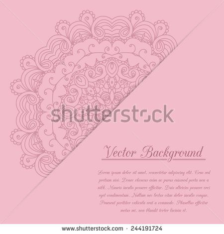 Vintage Invitation Decoration With Lace Ornament Template Jewelry