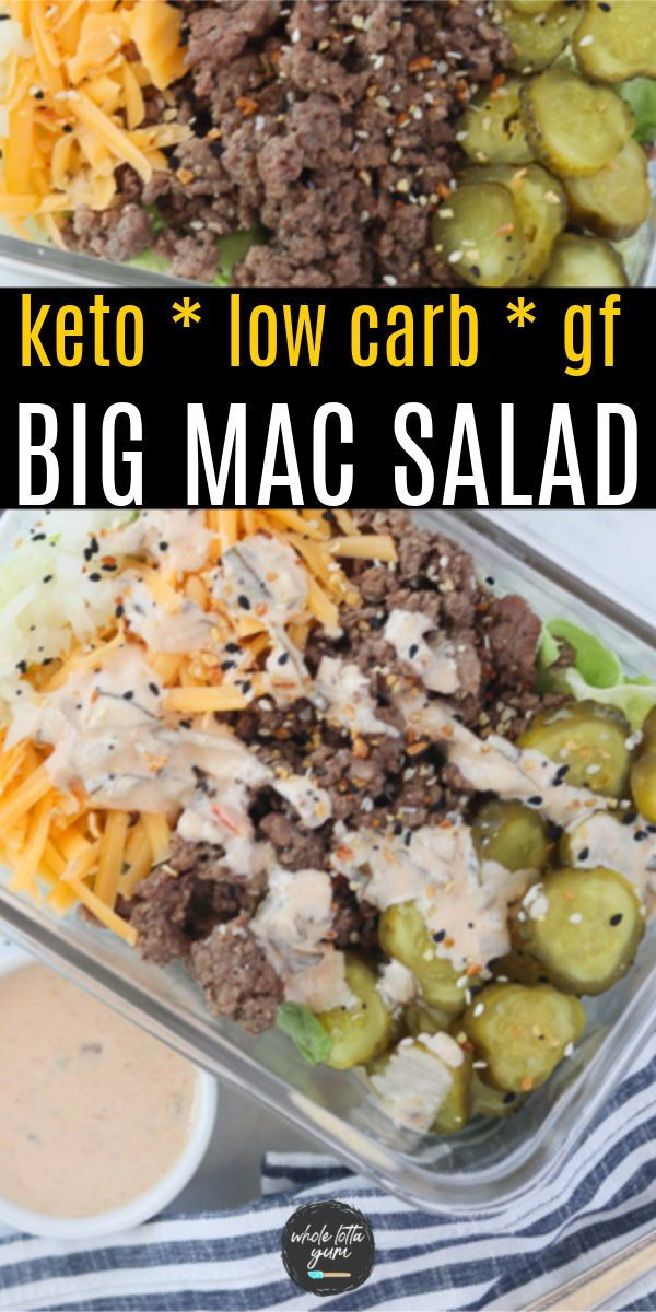 Big Mac in a Bowl (Big Mac Salad) Keto, Low Carb,