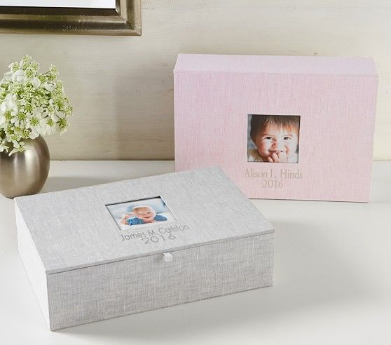 Linen keepsake boxes pottery barn kids pottery barn kids offers a beautiful selection of personalized baby keepsakes find keepsakes for baby and display beloved photographs or memorabilia negle Choice Image