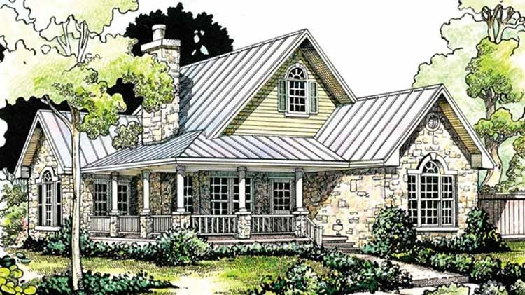 Country Style House Plan 2 Beds 2 Baths 1065 Sq Ft Plan 140 165 Country Style House Plans Cottage House Plans Country House Plans