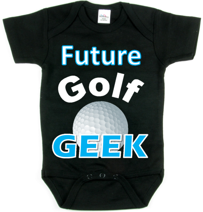 FUTURE GOLF GEEK -> (BLUE DESIGN) -> BABY TEE SPORTS COLLECTION -> Coming Soon! -> May 1st 2014 @ http://SmartBabyTees.com