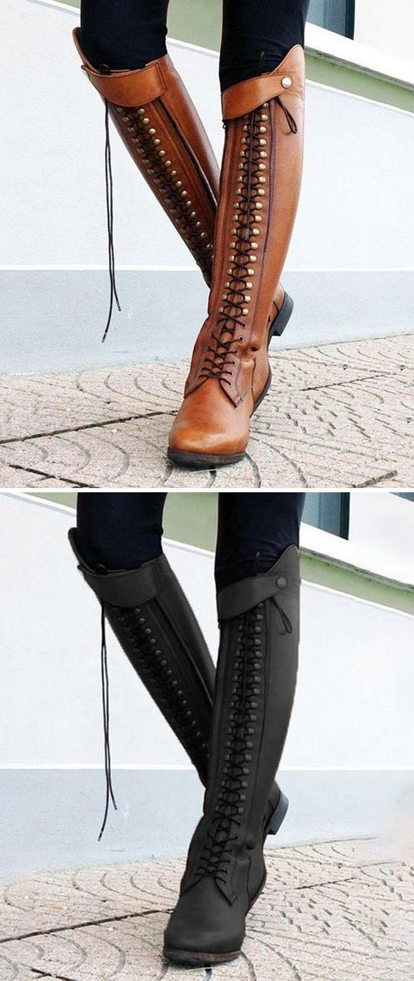 3fb24c6e7b Hot Sale!Women Horse Riding Booties Casual Lace-Up Boots