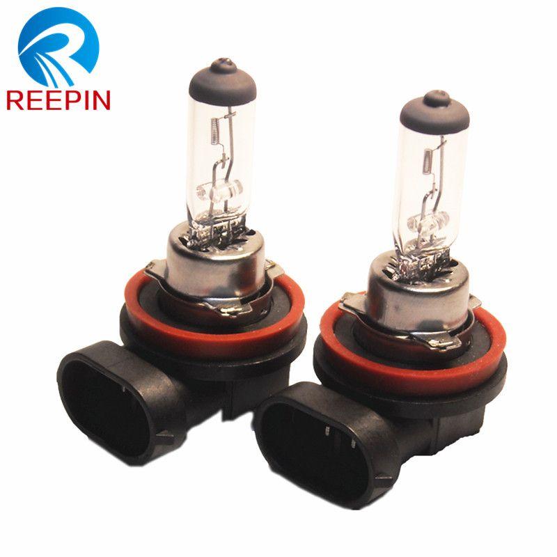 2 قطع السيارات مصباح الضباب H11 12 فولت 55 واط Pgj19 2 واضحة أضواء مصدر ضوء خارجي Foglights السيارات لمبة الهالوجين الكو Car Lights External Lighting Lamp Bulb
