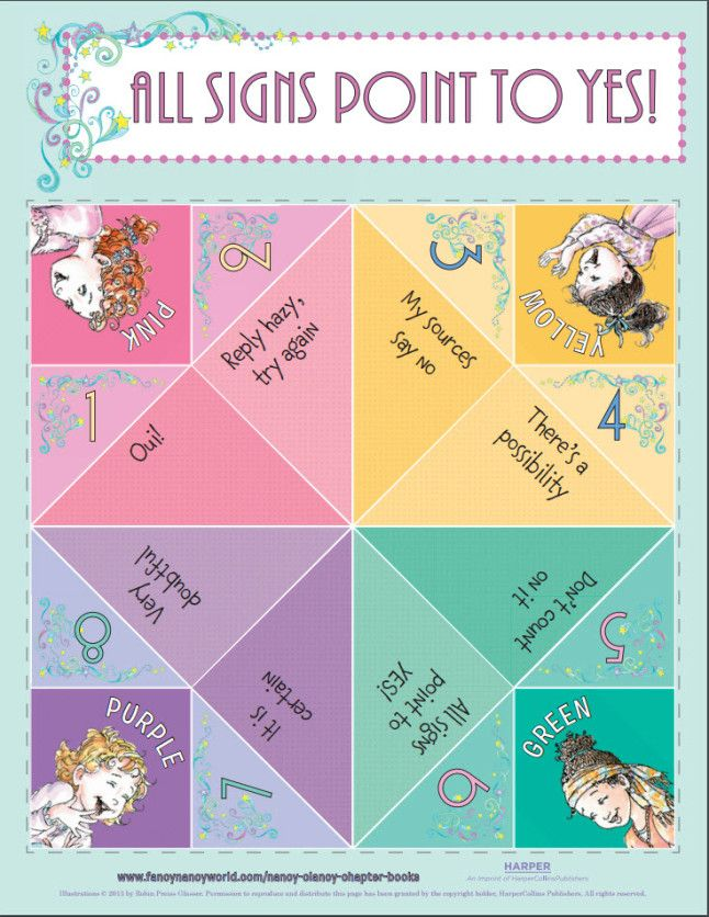 fancy nancy fortune teller and free fancy nancy activity printables great for a fancy nancy fan. Black Bedroom Furniture Sets. Home Design Ideas