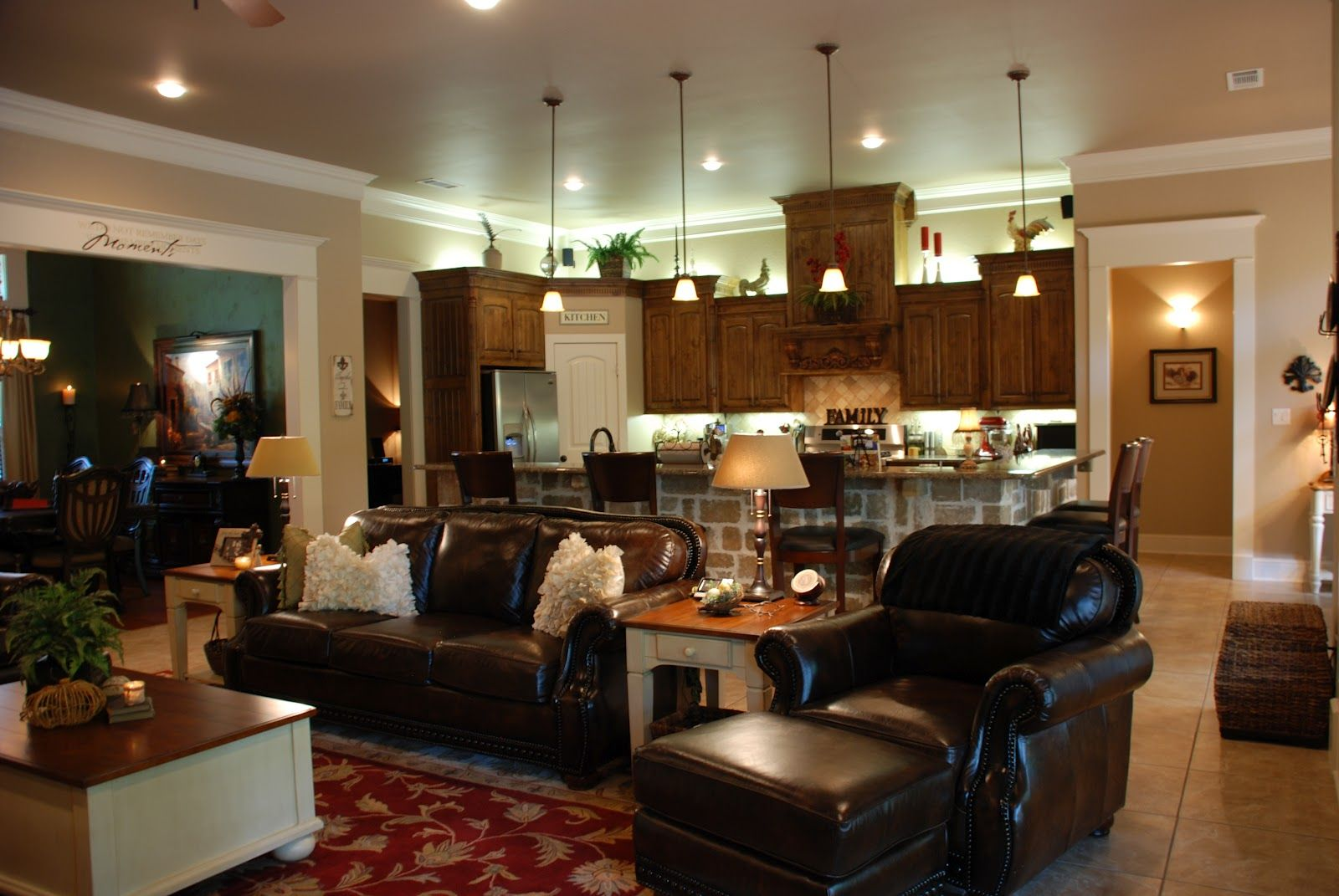 open concept kitchen living room designs | ... , one big ...