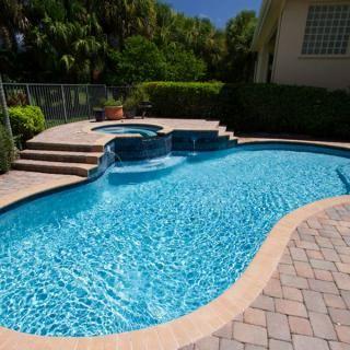 Kidney Bean Pool With Raised Spa Pool Backyard Pool Cool Pools