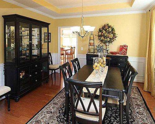 Dining Room Color Ideas With Chair Rail  Home Interior Design Inspiration Dining Room Color Schemes Inspiration Design