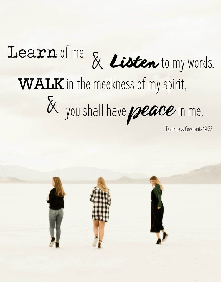 You Shall Have Peace In Me Doctrine And Covenants 1923 Lds