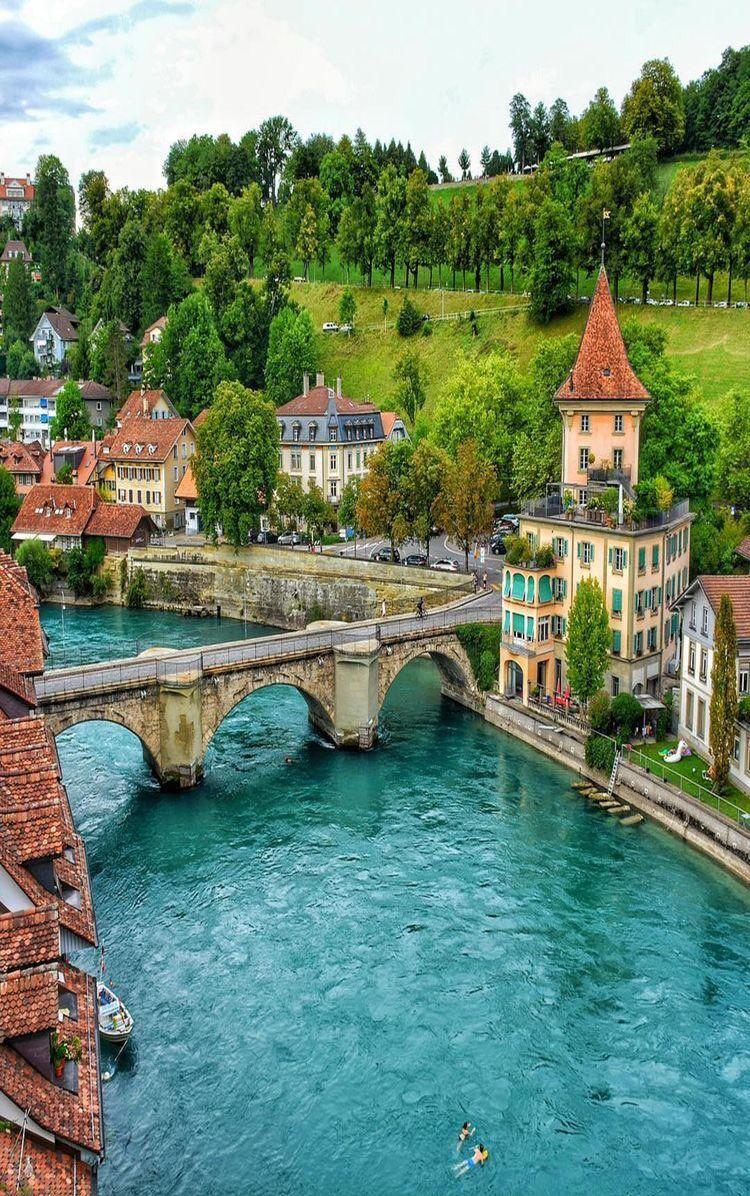 River Aare Bern Switzerland Beautiful Places To Travel Beautiful Places To Visit Beautiful Places