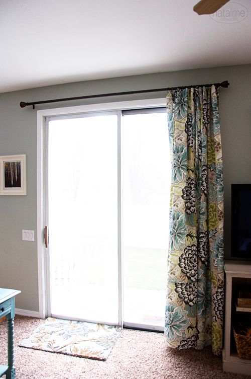No Center Rest On Curtain Rod Curtain Only To One Side Home