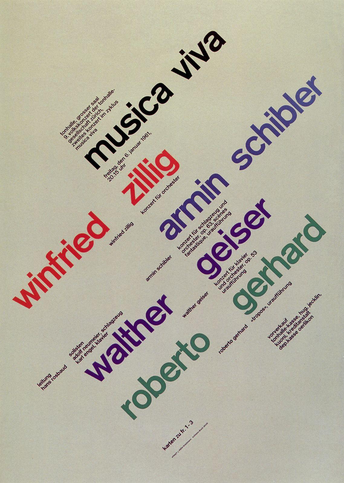 CHAUDRON: Joseph Müller-Brockmann - Musica Viva - Zurich Tonhalle ...