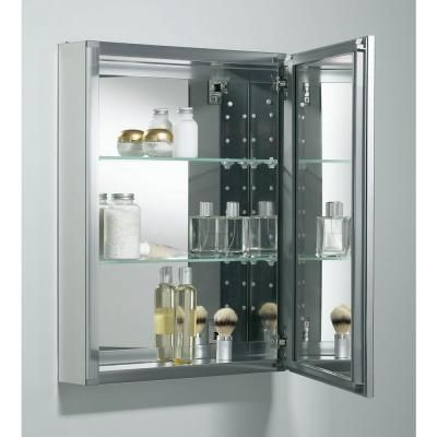 Kohler 20 In X 26 Recessed Or Surface Mount Medicine Cabinet Anodized Aluminum