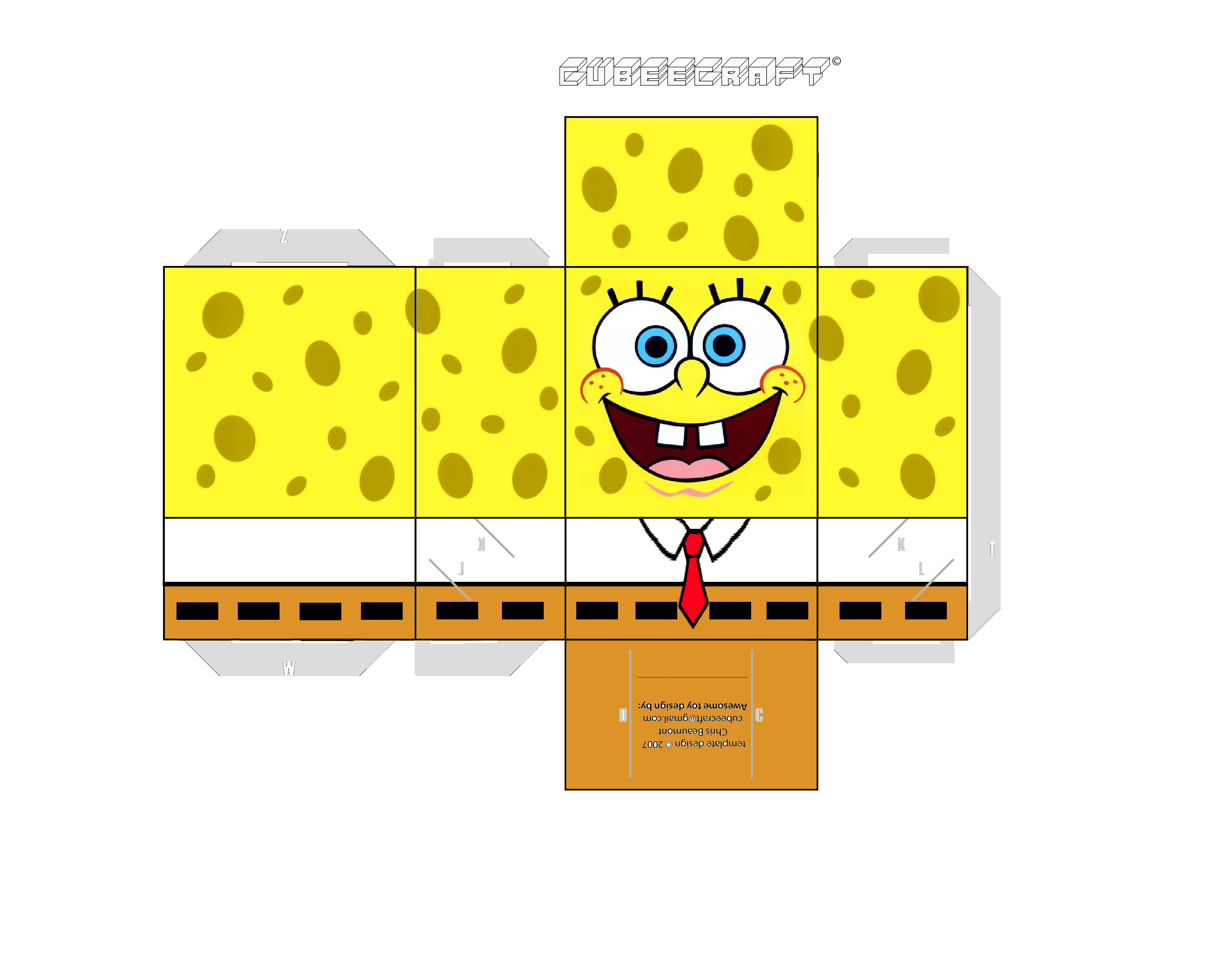 spongebob squarepants paper craft printable projetos cut