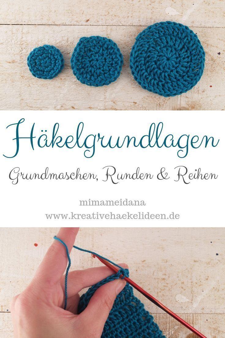 Photo of Häkelgrundlagen und -techniken: Grundstiche, Runden und Reihen häkeln, # Grundstiche # Häkeln …