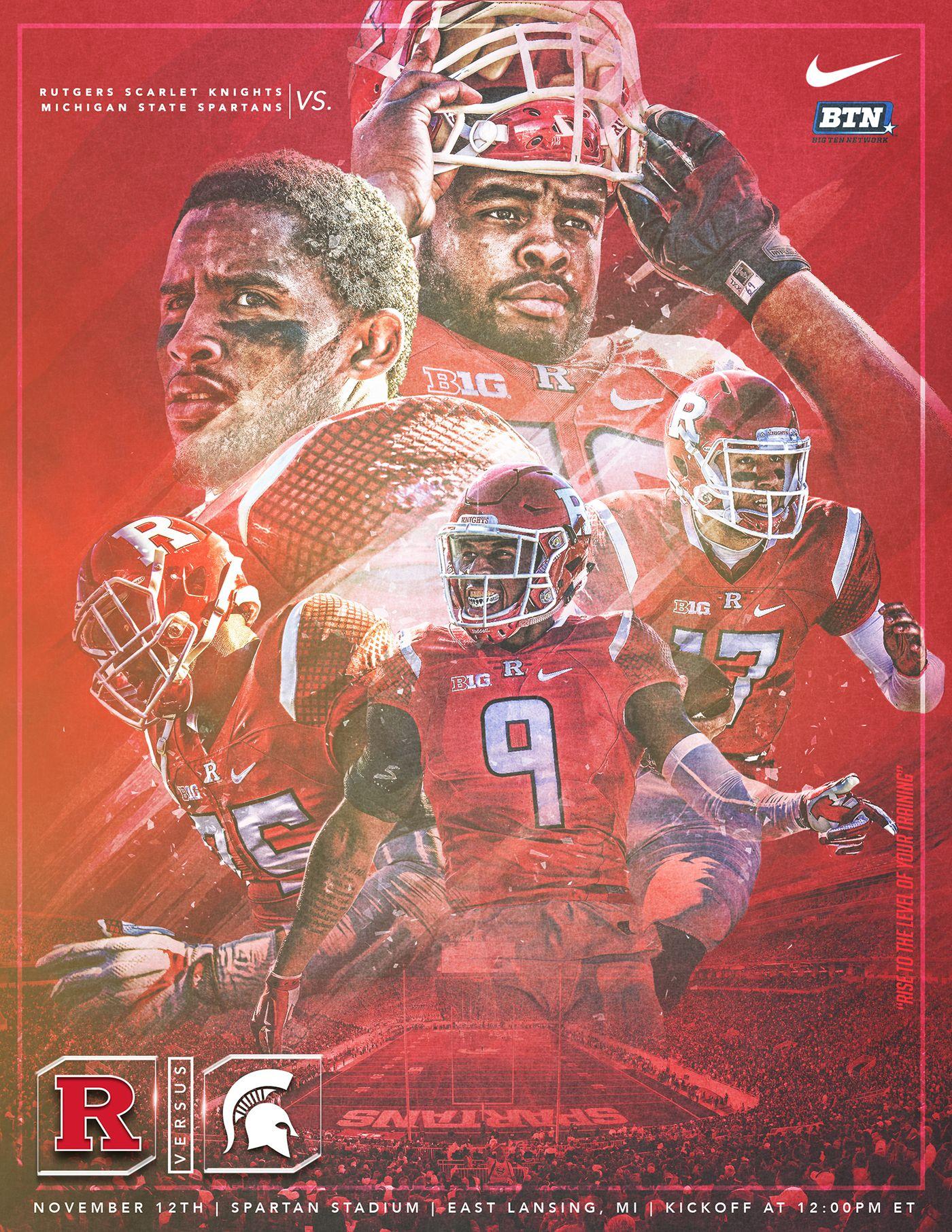 Rutgers Football Game Week Graphics Pt 2 On Behance Rutgers Football
