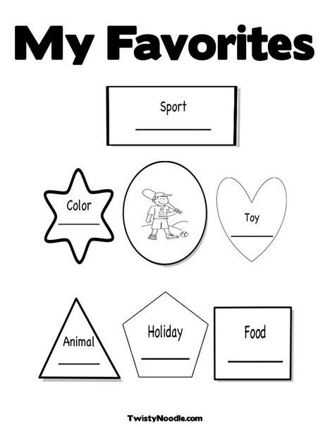 All About Me! Coloring Page from TwistyNoodle.com