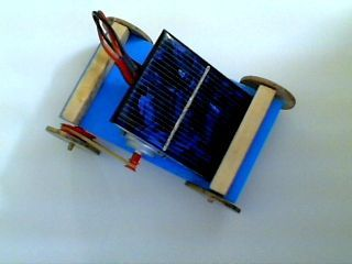 Mini solar power car from Instructables