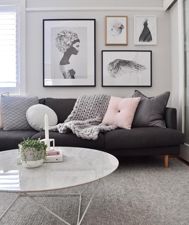Monochromatic Living Room Houzz Com: Living Room Goals Courtesy Of @nordic.interior.love