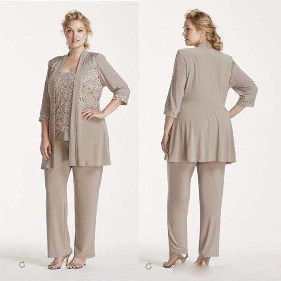 Cheap Elegant Ankle Length Mother Of The Bride Pants Suit