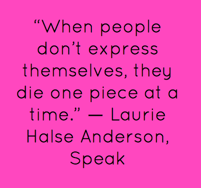 speak essay about melinda Critical analysis of speak 1 speak, by laurie halse anderson, is a book about the trials and tribulations of high school life the main character melinda, has a .