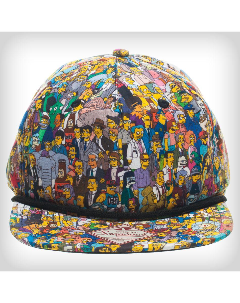 The Simpsons Character Snapback Hat  snapbacks  snapbax  0217a42d39e