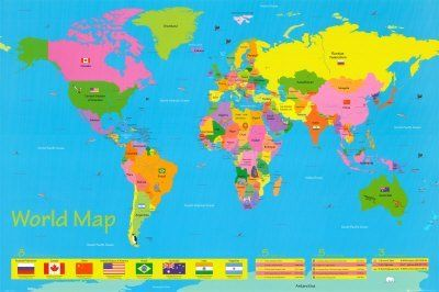 World map childrens collections poster print 36x24 by generic world map childrens collections poster print 36x24 by generic http gumiabroncs Choice Image