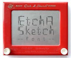 etch a sketch font