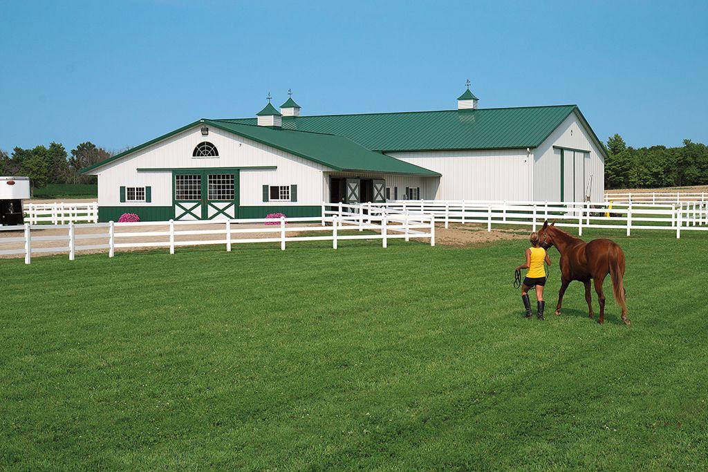 4151 Morton Buildings Dream horse barns, Equestrian