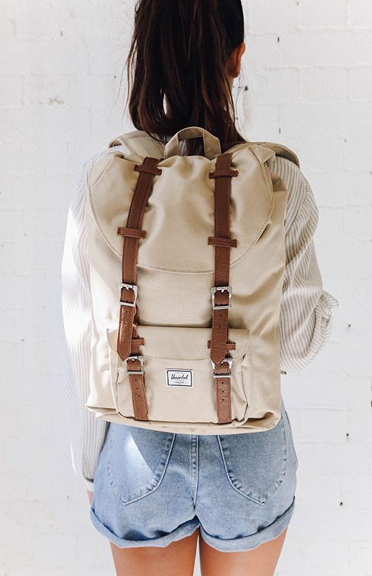 Herschel Little America Mid - Volume Backpack - Khaki Tan from  peppermayo.com 54bd46d3be904