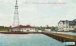 Bay City Michigan Beaches Postcard Post Card Circle Swing Wenona Beach Mi
