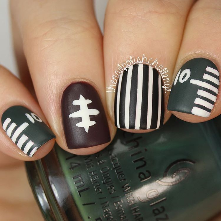 Football Inspired Nails | NFL, NBA, and Other Sports Related Party ...