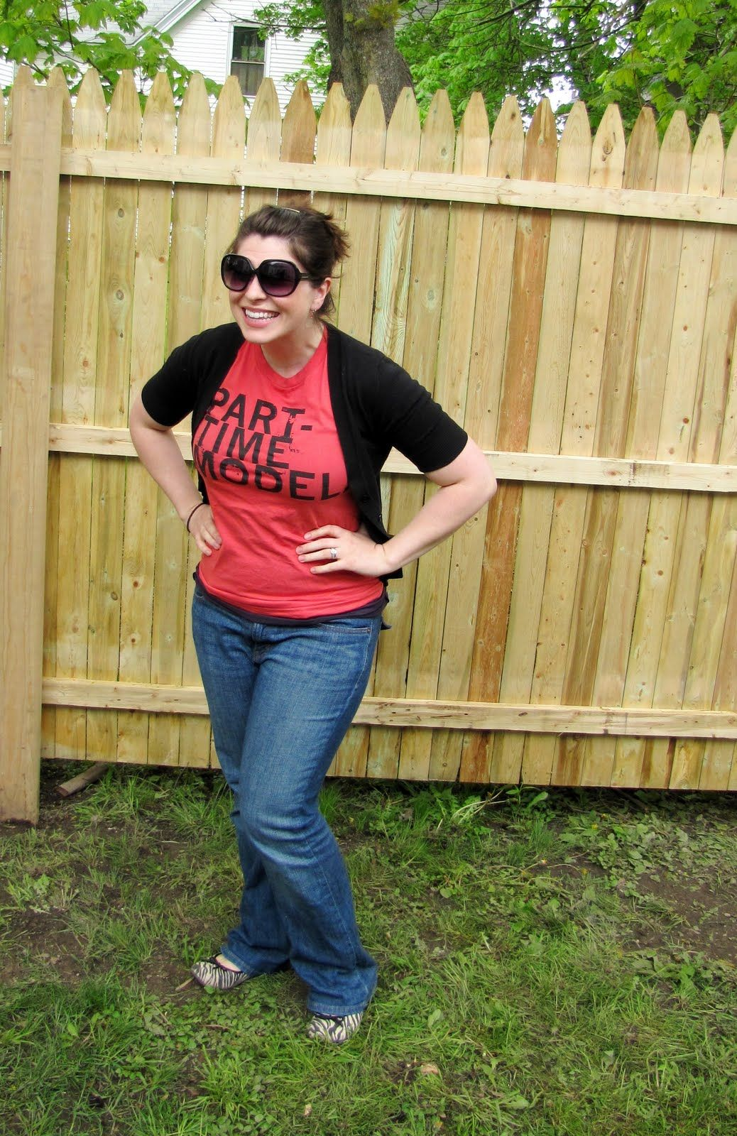 hillary of babymoohoo in our retired Part-time model tee