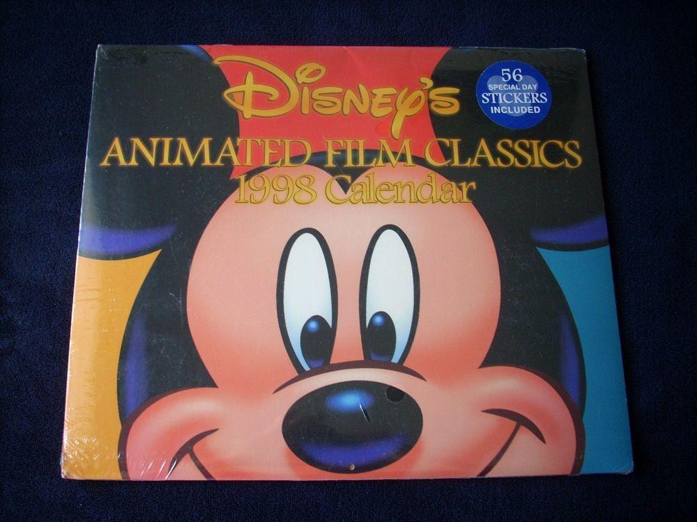 New Disney Mickey Mouse Animated 1998 Desk Calendar Brand New