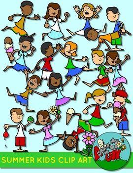 Summer Kids Activities Clip Art Clip Art From Tpt Summer