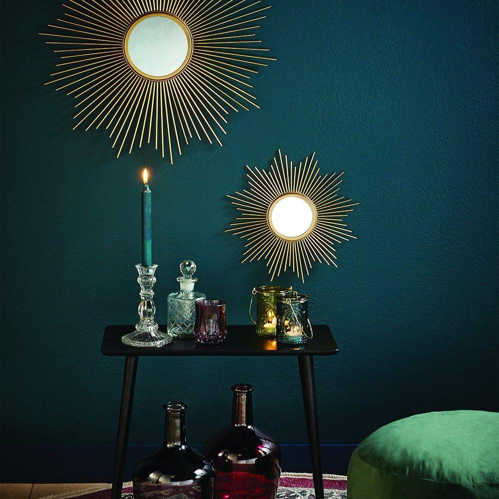des miroir soleils dorés pour une déco moderne et art déco très